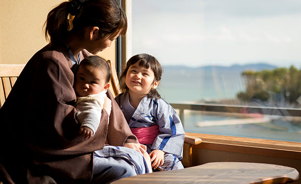 3世代、安心して楽しめる淡路夢泉景